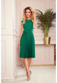 Zielona sukienka Numoco elegancka