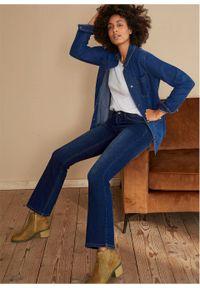 Dżinsy ze stretchem Bootcut, bawełna organiczna bonprix ciemnoniebieski. Kolor: niebieski