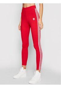 Adidas - adidas Legginsy 3-Stripes adicolor Classics GN8076 Czerwony Slim Fit. Kolor: czerwony