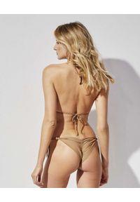 PRAIA BEACHWEAR - Beżowe bikini California Love. Kolor: beżowy. Materiał: materiał. Wzór: ażurowy