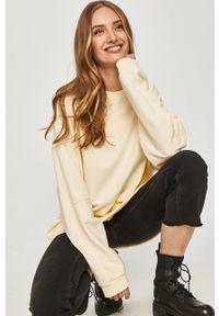 Answear Lab - Bluza bawełniana. Kolor: żółty. Materiał: bawełna. Długość rękawa: długi rękaw. Długość: długie. Styl: wakacyjny