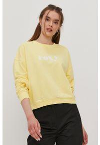 Roxy - Bluza. Kolor: żółty. Wzór: aplikacja
