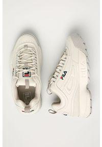 Białe buty sportowe Fila z cholewką, z okrągłym noskiem