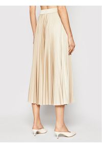 Marella Spódnica plisowana 37710211 Beżowy Regular Fit. Kolor: beżowy