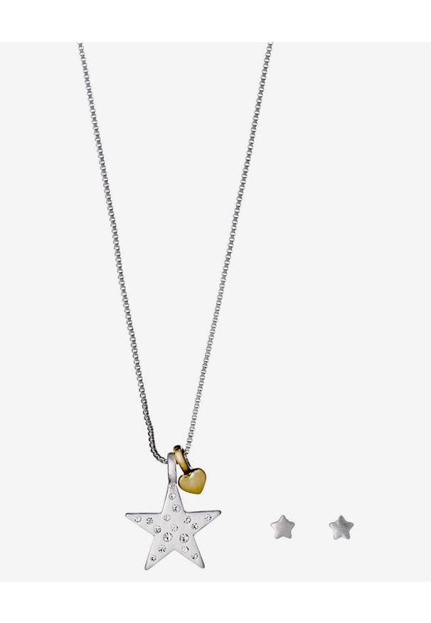 Srebrny naszyjnik Pilgrim z kryształem, ze stali
