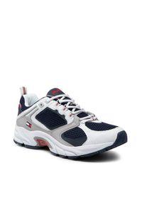 TOMMY HILFIGER - Tommy Hilfiger Sneakersy Archive Mesh Runner EM0EM00666 Biały. Kolor: biały. Materiał: mesh