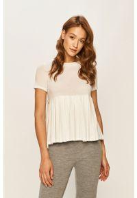 Biała bluzka Stefanel casualowa, na co dzień, gładkie