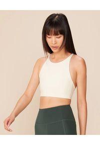 GIRLFRIEND COLLECTIVE - Biały top Topanga Ivory. Kolor: biały. Materiał: jeans, materiał. Długość rękawa: na ramiączkach