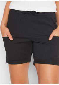 Czarne spodnie bonprix krótkie