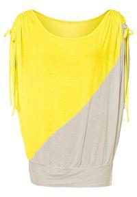 """Shirt """"nietoperz"""" bonprix limonka - naturalny. Kolor: żółty"""