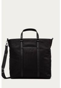 Czarna torba Strellson gładkie, casualowa