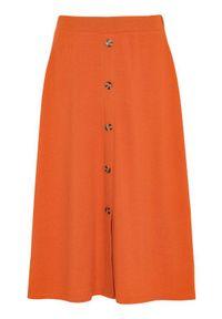 Cellbes Spódnica z guzikami rdzawy female brązowy/pomarańczowy 38/40. Kolor: brązowy, wielokolorowy, pomarańczowy. Materiał: jersey, guma