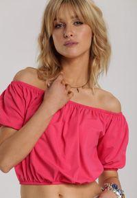Renee - Ciemnoróżowa Bluzka Amalisis. Kolor: różowy. Długość: krótkie