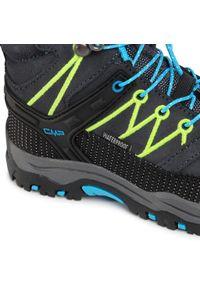 Trekkingi CMP - Kids Rigel Mid Trekking Shoe Wp 3Q12944 Antracite/Yellow Fluo 34UF. Okazja: na spacer. Kolor: szary. Materiał: zamsz, materiał, skóra