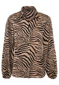 Czarna bluzka bonprix z motywem zwierzęcym