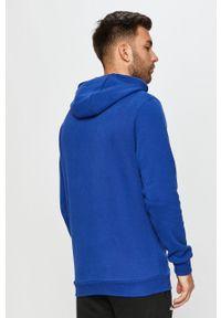 Niebieska bluza nierozpinana Ellesse casualowa, z kapturem, z nadrukiem, na co dzień