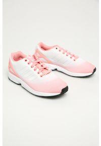 Różowe buty sportowe adidas Originals z cholewką, na sznurówki