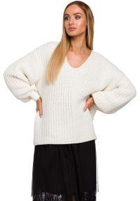 Długi sweter MOE z dekoltem w serek