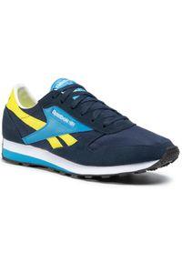 Niebieskie buty sportowe Reebok z cholewką, na co dzień