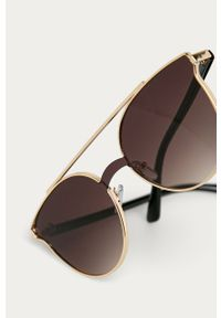 Brązowe okulary przeciwsłoneczne Answear Lab