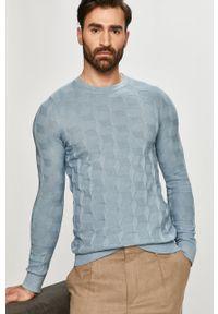 Niebieski sweter Hugo gładki