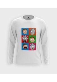 MegaKoszulki - Koszulka męska z dł. rękawem Emocje Rick and Morty. Materiał: bawełna