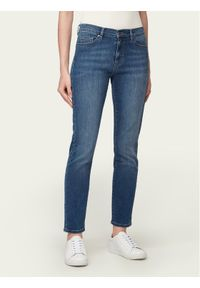Niebieskie jeansy slim BOSS