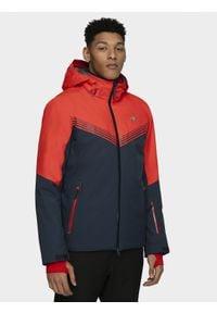Niebieska kurtka narciarska 4f Dermizax, plus size, na zimę