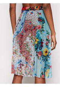 Desigual Spódnica plisowana Buny 21SWFK03 Kolorowy Regular Fit. Wzór: kolorowy