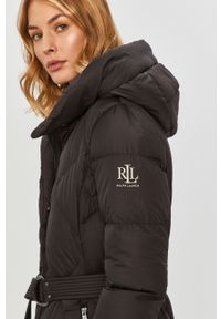 Czarna kurtka Lauren Ralph Lauren z kapturem
