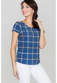 Niebieska bluzka Katrus z krótkim rękawem, krótka
