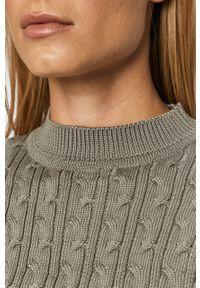 TALLY WEIJL - Tally Weijl - Sweter. Kolor: szary. Materiał: materiał