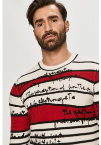Wielokolorowy sweter Desigual długi, casualowy