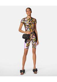 Versace Jeans Couture - VERSACE JEANS COUTURE - Spodenki rowerowe Versailles Print. Kolor: czarny. Materiał: materiał. Wzór: nadruk