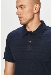 Niebieska koszulka polo Quiksilver polo, na co dzień, krótka, casualowa