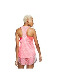 Koszulka damska do biegania Nike Tank Runway CQ7869. Materiał: poliester, materiał, elastan. Technologia: Dri-Fit (Nike). Długość: krótkie. Sport: fitness, bieganie #2
