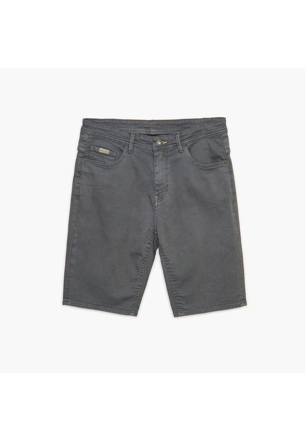 Cropp - Jeansowe szorty - Szary. Kolor: szary. Materiał: jeans