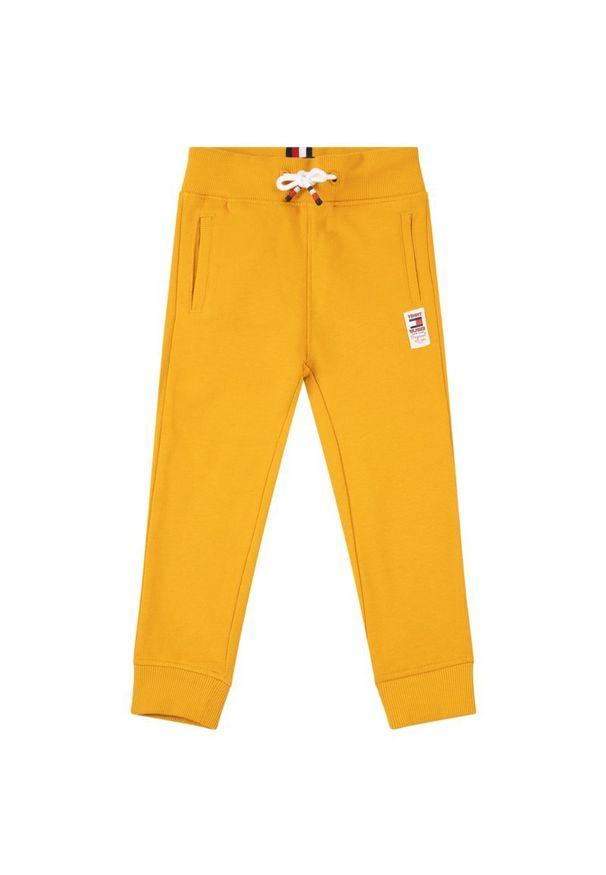 Żółte spodnie dresowe TOMMY HILFIGER