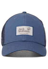 Jack Wolfskin - Czapka z daszkiem JACK WOLFSKIN - Heritage Cap 1905621 Ocean Wave. Kolor: niebieski. Materiał: materiał, bawełna, poliester
