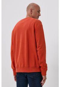 Lee - Bluza. Kolor: pomarańczowy. Materiał: bawełna. Wzór: nadruk