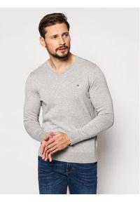 Szary sweter klasyczny TOMMY HILFIGER