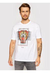 Togoshi T-Shirt Roar Biały Regular Fit. Kolor: biały