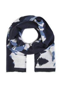 Niebieski szalik Giacomo Conti na zimę, wizytowy