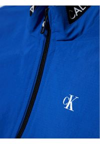 Calvin Klein Jeans Kurtka przejściowa Logo Elastic IB0IB00721 Niebieski Regular Fit. Kolor: niebieski