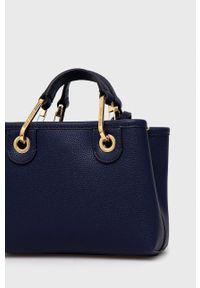 Emporio Armani - Torebka Y3D176.YFO5B. Kolor: niebieski. Rodzaj torebki: na ramię