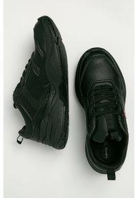 Czarne sneakersy Levi's® z cholewką, z okrągłym noskiem, na sznurówki
