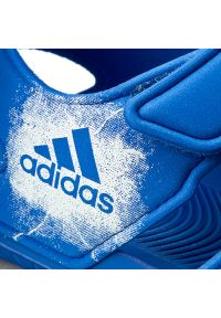Niebieskie sandały Adidas na lato, w paski
