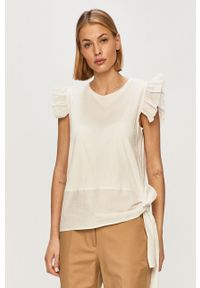 Biała bluzka Silvian Heach gładkie, casualowa