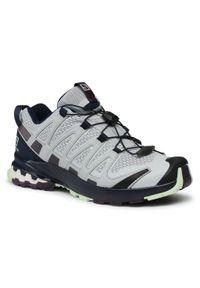 Szare buty trekkingowe salomon na co dzień, casualowe, z cholewką