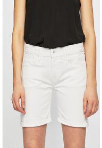 Białe szorty Pepe Jeans casualowe, na co dzień, z aplikacjami
